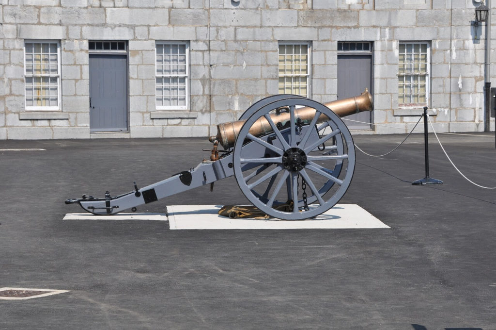 A cannon at Fort Henry in Kingston, Ontario